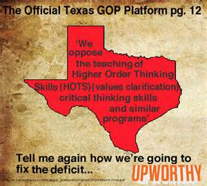 texas republican party critical thinking
